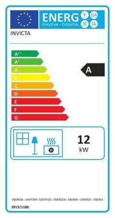 BINIKTA Piec wolnostojący Invicta 12kW Angor (górna lub tylna średnica wylotu spalin: 150mm) - spełnia anty-smogowy EkoProjekt 86854952