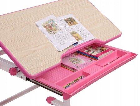 Biurkosa Zestaw regulowane biurko + krzesełko Pink 11976328
