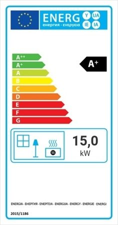 KONS Wkład kominkowy 15kW MBO 15 BS Gilotyna (lewa boczna szyba bez szprosa, drzwi podnoszone) - spełnia anty-smogowy EkoProjekt 30053243