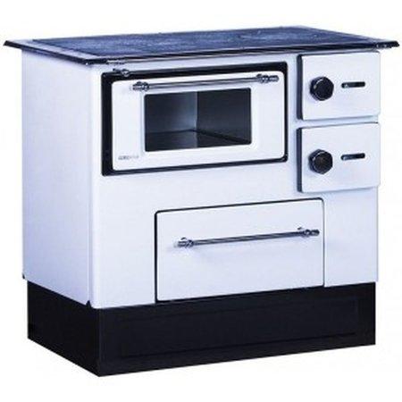 Kuchnia wolnostojąca, angielka na drewno 5kW, bez płaszcza wodnego (kolor: biały) 27776230
