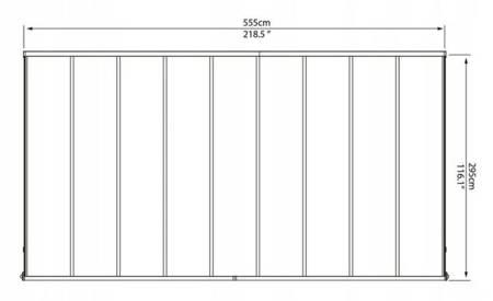 MAKET Zadaszenie tarasu pergola pawilon garaż (wymiary markizy: 546 x 226-286 x 285-305 cm) 21878021