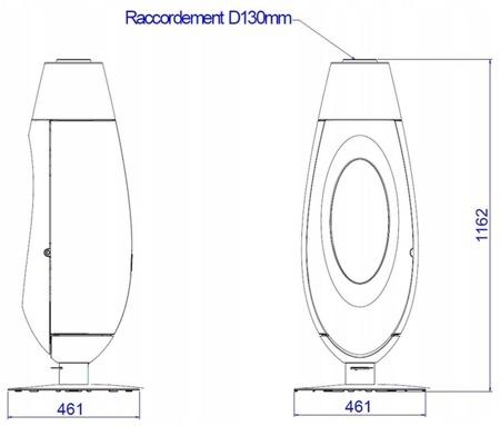 Piec wolnostojący Invicta 5kW Ovatio (kolor: antracyt) - spełnia anty-smogowy EkoProjekt 86872840