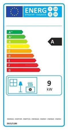 Piec wolnostojący Invicta 9kW Kazan (kolor: emalia antracyt) - spełnia anty-smogowy EkoProjekt 86876403