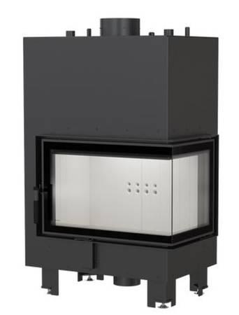 Wkład kominkowy 12kW MBM PW BS z płaszczem wodnym, wężownicą (prawa boczna szyba bez szprosa) - spełnia anty-smogowy EkoProjekt 30066824