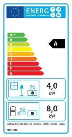 Wkład kominkowy 12kW Zuzia Deco z płaszczem wodnym, wężownicą (szyba prosta) - spełnia anty-smogowy EkoProjekt 30060553