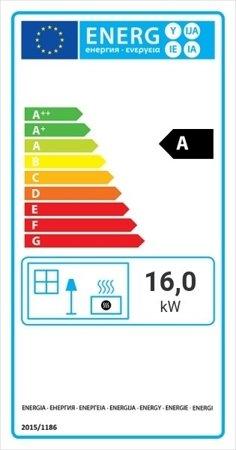 Wkład kominkowy 16kW LUCY 16 (szyba prosta) - spełnia anty-smogowy EkoProjekt 30054021